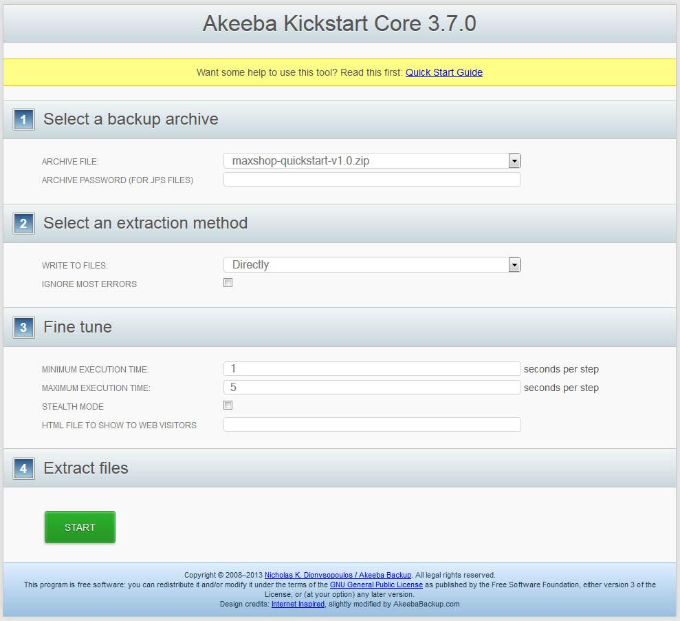 kickstart - распаковка архива на сервере